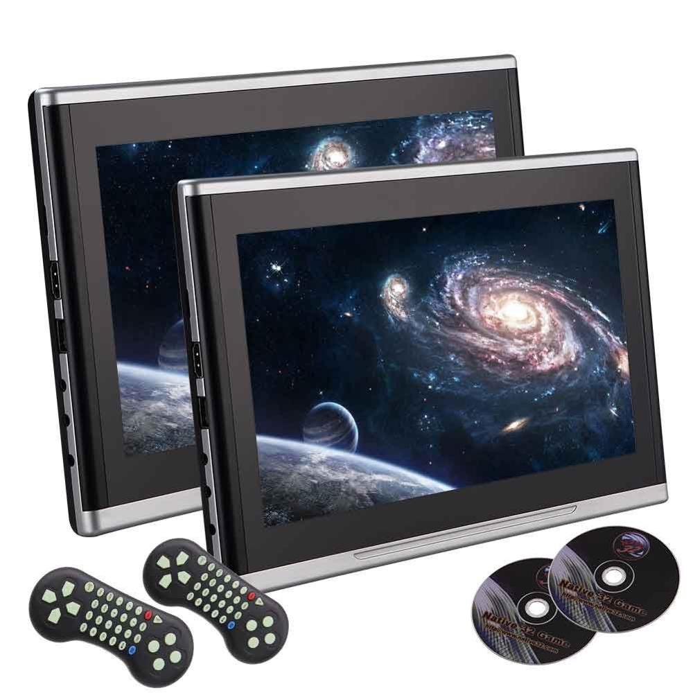 10.1 inch Black Car DVD/USB/SD/Headrest Video Player LCD Monitor Dual Screen DVD Player Rear seat Entertainment HDMI Multi-media