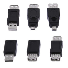 Load image into Gallery viewer, 10Pcs 12Pcs OTG 5pin F/M Mini Changer Adapter Converter USB Male to Female Micro USB Adapter USB 2.0 Gadgets Phone Converter