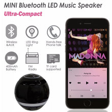 Load image into Gallery viewer, Abuzhen Bluetooth Speaker Mini Portable Wireless Speaker Soundbar Bass Boombox Sound box with Mic TF Card FM Radio LED Light