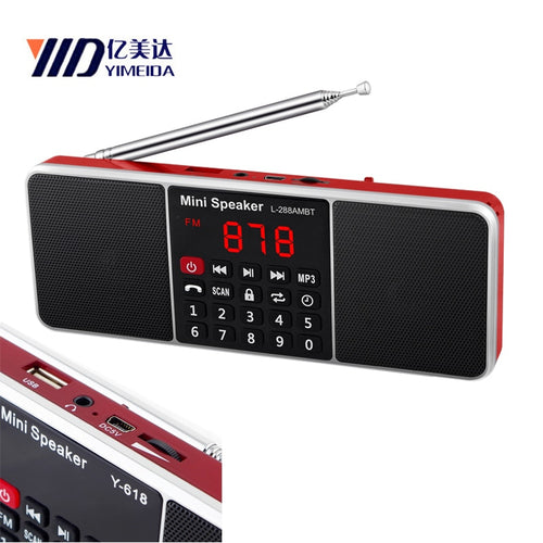 Bluetooth Timed shutdown Portable AM FM Radio FM dab radios portatil am fm radyo Support USB TF Card Phone Music Player Speaker