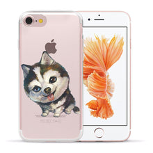 Load image into Gallery viewer, Cute Pug dog Cartoon Soft TPU Silicone Phone Back Case Cover For Apple iPhone 8 7 6 6S Plus 5S 5 SE X XS Max XR Shell Capa Coque