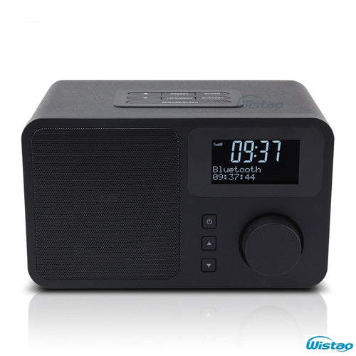 DAB + FM Digital Radio Bluetooth Speaker Snooze & Alarm Clock LCD Display Automatic Search Station 3W RMS Desktio Home Radios