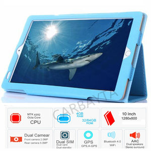Free Shipping Gift Case Original 10.1' 32GB Nice Tablets Android Octa Core P80  Dual Camera Dual SIM Tablet PC  WIFI OTG GPS
