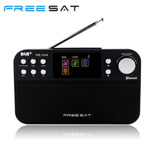 Free sat DR-103B DAB Satellite receiver Portable Digital DAB FM Stereo Radio Receptor With  2.4 Inch TFT