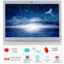 Load image into Gallery viewer, Free shipping S119 10.1' Tablets Android 8.0 Octa Core 32GB 64GB ROM Dual Camera 8MP Dual SIM Tablet PC Wifi GPS bluetooth phone