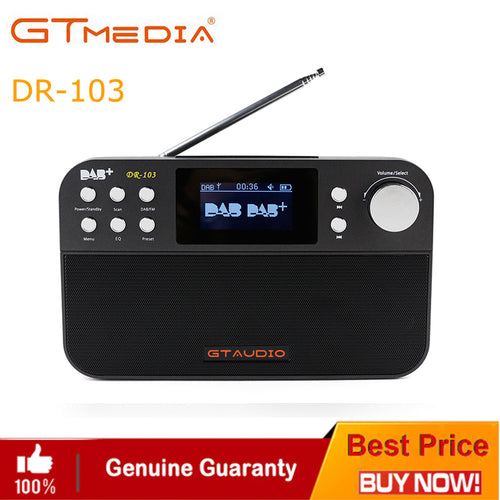 GTmedia DR-103B DAB Receiver Portable Digital DAB FM Stereo Radio Receiver with 2.4