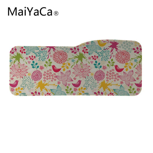 MaiYaCa Big Gamer Mouse Pad 750X310mm Speed Gaming Mouse Pad Locking edge Laptop Mats For Animal fox flowers and birds