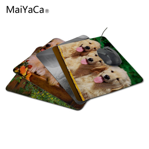 MaiYaCa Love Puppies olden Retriever Dogs Pets Funny Mouse Mat Durable Computer Mousepad