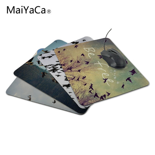 MaiYaCa New Arrival Be Free Birds Rectangle Durable Game Gaming PC Anti-slip Mouse Mat for Optical/Trackball Mouse Drop Shipping