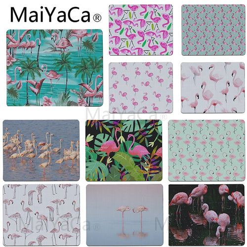 MaiYaCa Small Mousepad Birds Flaming Desk Mat Surface Waterproof Rubber Mouse pad Computer Game Tablet Mousepad For Flamingo