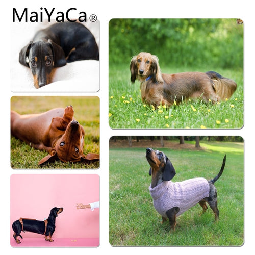 MaiYaCa Your Own Mats Dachshung dog Customized laptop Gaming mouse pad Size for 180x220x2mm and 250x290x2mm Rubber Mousemats