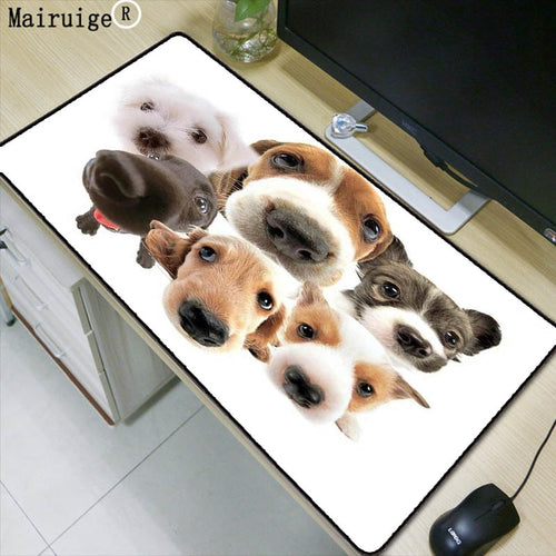 Mairuige Dog Head Animal Large Gaming Mouse Pad Lock edge Mouse Mat for Laptop Computer Keyboard Pad Desk Pad for Dota Mousepad