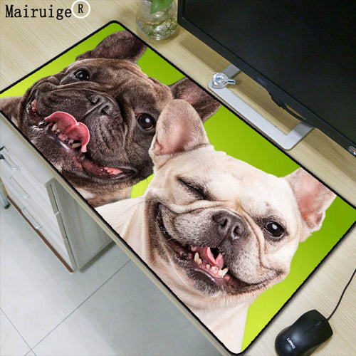 Mairuige Dogs Bulldog Snout Animals Large Gaming Mouse Pad Lockedge Mouse Mat Keyboard Pad Mousepad for Laptop Computer Desk Mat