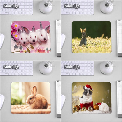 Mairuige for Festival Gifts Lovely Animals Pattern Photo Printed Mousepad Rabbit Cat Dog Pet Computer Mouse Pad Tablet Gamer Mat