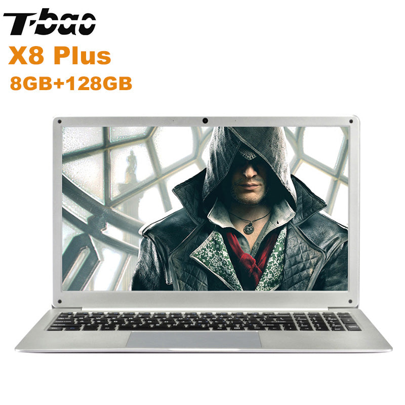 NEW T-Bao X8 Plus Laptop 15.6'' Windows 10 Intel Celeron N4100 Quad Core 1.1GHz 8GB + 128GB HDMI 0.3MP Front Camera Notebook PC
