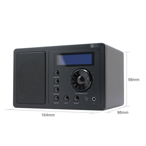 O-002 Ocean Digital DB-220B DAB+FM Digital Bluetooth Radio With  Dual Alarm Clock  Remote control and AC/DC Power Adaptor