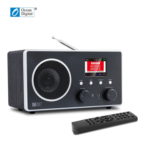 O-013 Ocean Digital DB-280C DAB Digital Radio DAB+FM desktop Wooden Bluetooth