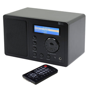 Ocean Digital WR-220 Wireless  Internet Radio/UPnP player 14000 Radio station 2 alarm LCD Remote control wireless player radio