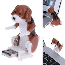 Load image into Gallery viewer, Portable Mini Cute PC USB Gadgets Funny Humping Spot Dog Rascal Dog Toy Relieve Pressure Toy for Office Worker