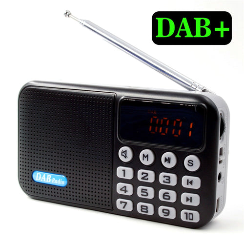 Portable Multi-function DAB + Digital Radio Receiver Bluetooth Speaker USB Disk TF Card MP3 Music Player FM Radio Receiver