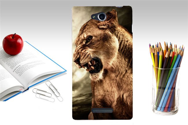 Print Lion Wolf Horse Polar Bear Parrot Elephant Owl Cat Mouse Hood Phone Cases Covers For SONY Xperia C S39H C2305 Case Shell