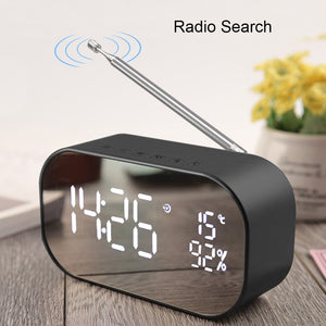 UPS2 Tabletop FM Radio receiver with Display USB Multifunction Double Bluetooth Speaker Alarm clock Support Aux-IN / TF card