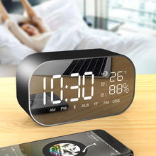 Load image into Gallery viewer, UPS2 Tabletop FM Radio receiver with Display USB Multifunction Double Bluetooth Speaker Alarm clock Support Aux-IN / TF card