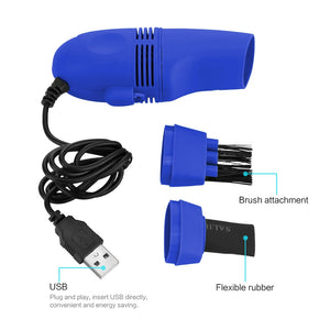 USB Gadgets for Computer Vacuum Mini USB Keyboard Cleaner Laptop Brush Dust Cleaning Kit
