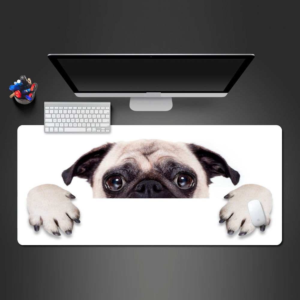 Vivid Hot Pug Dog Mouse Pad High Quality Washable Cute Dog New Design Anti-slip Mousepad Computer Mouse Pad PC Gaming Desk Mats