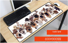 Load image into Gallery viewer, Yuzuoan 900x400X3 mm A Lots Of Dog Large Overlock Animal Mouse pad to Notbook Computer Gaming Rubber Mousepad Table Mat As Gift