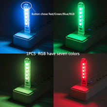 Load image into Gallery viewer, ZMJUJA USB Portable Mini led night light RGB USB LED book Light SMD reading lamp For Power Bank & Notebook & Computer USB Gadget