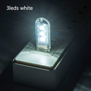 ZMJUJA USB Portable Mini led night light RGB USB LED book Light SMD reading lamp For Power Bank & Notebook & Computer USB Gadget