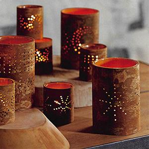 Brown Candle Holders