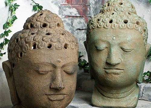 Garden Age Supply Buddha Head Garden Lanterns