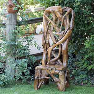 Garden Age Supply Habini Teak Driftwood King Chair