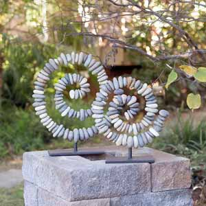 Garden Age Supply Stone Spiral On Stand - Set Of 2