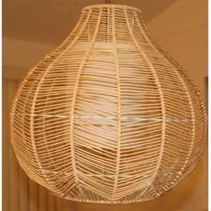 Lacey Rattan Woven Pendant Lamps- Round And Tall