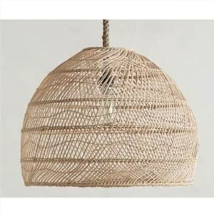 Rattan Dome Hemp Lamp -Artisan Living