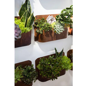 Rust Wall Planter By Accent Decor