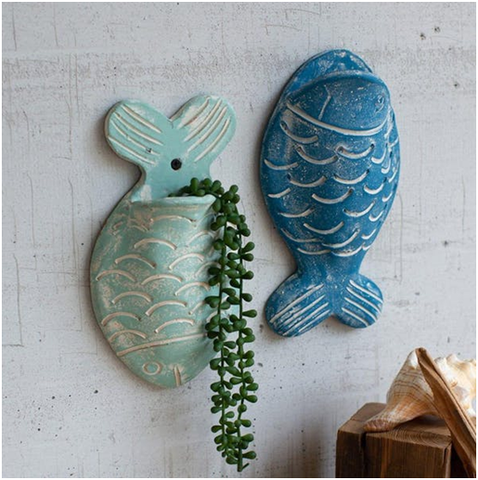 Wall Planters In Quirky Fish Shapes-Modish Store