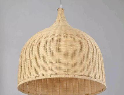 Bamboo chandelier sustainable lighting