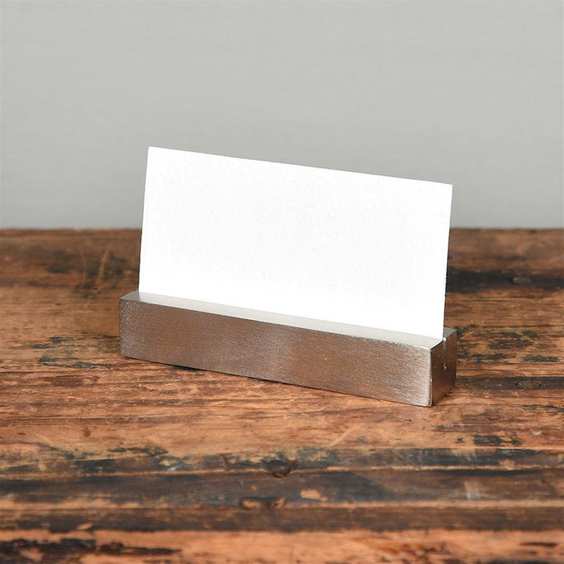 HomArt Cast Iron Rectangle Bar Place Card Holder - Set of 8