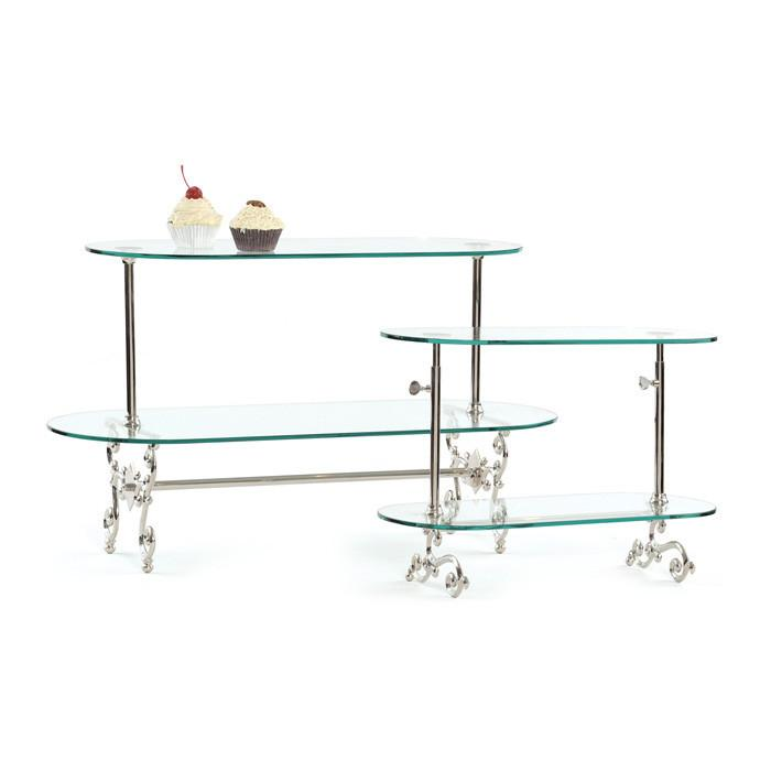 Small Two Tier Adjustable Pastry Stand by GO Home