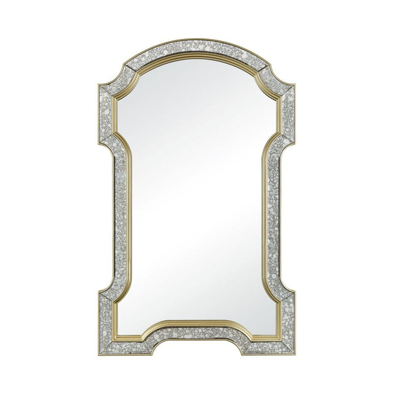 "Sterling Industries Val-de-Grace Antiqued Glass 50"" Wall Mirror"