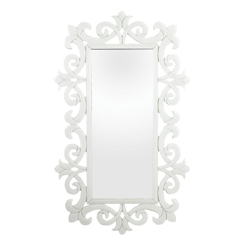 Sterling Industries Haylee Glass Scroll Work Framed Mirror