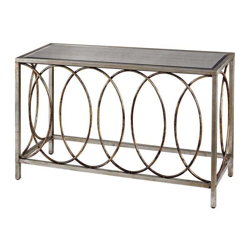 Sterling Industries Rings Console Table With Mirrored Top