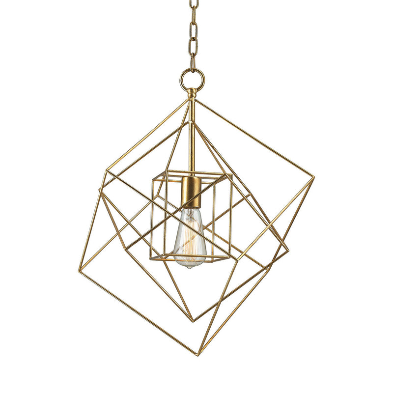 Dimond Lighting Neil 1 Light Box Pendant In Gold Leaf - 1141