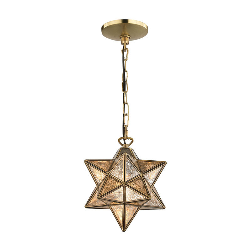 Sterling Industries Moravian Star Pendant - Gold