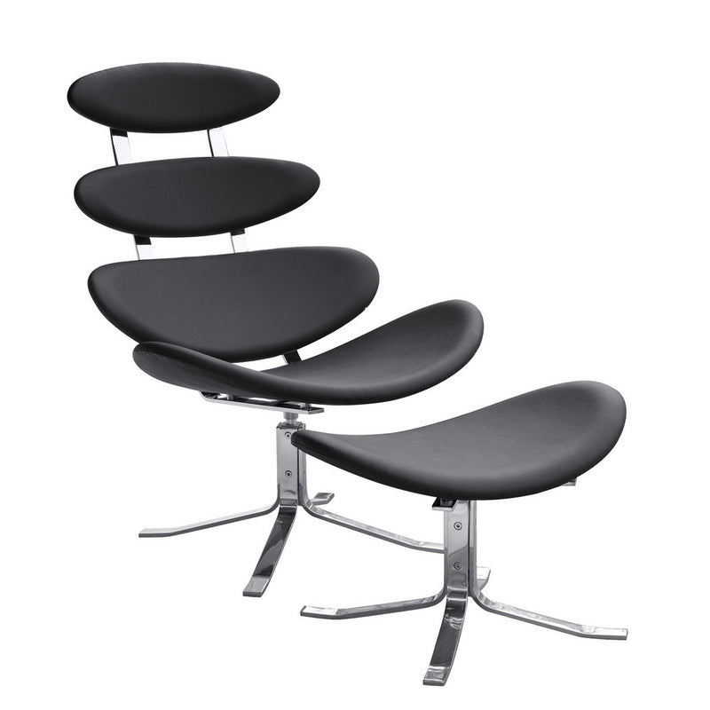Fine Mod Imports Crono Chair and Ottoman