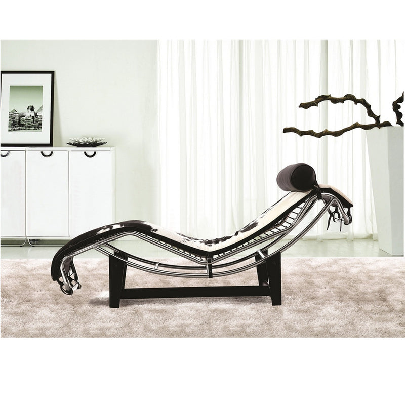 Fine Mod Imports Adjustable Chaise in Pony